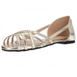 รองเท้าส้นแบน แบบลำลอง(สีทอง)