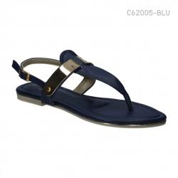 รองเท้าส้นแบนรัดส้น สไตล์เกาหลี (สีน้ำเงิน )