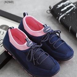 รองเท้าผ้าใบเพื่อสุขภาพ แบบเชือกผูก (สีน้ำเงิน)