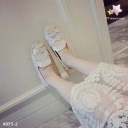 รองเท้าผ้าใบผู้หญิงสีรุ้ง สดใส ปักลายโค๊ก&ป็อปคอร์น ขอบเย็บด้วยเชือกสาน ทันสมัย ไม่ซ้ำใคร แฟชั่นเกาหลี แฟชั่นพร้อมส่ง