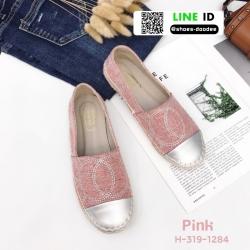 รองเท้าคัทชูส้นแบน chanel flats H-319-1284-PNK [สีชมพู]