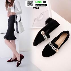 รองเท้าคัทชูผู้หญิง Miu miu W81-BLK [สีดำ]