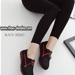 รองเท้าผ้าใบสีดำ เพื่อสุขภาพ ที่เห็นแล้วLove พื้นยางอย่างดี ใส่ง่าย ถอดง่าย ไม่ต้องนั่งผูกเชือก