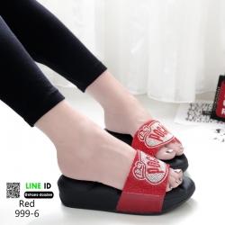รองเท้าโซฟาแบบสวม 999-6-แดง [สีแดง]