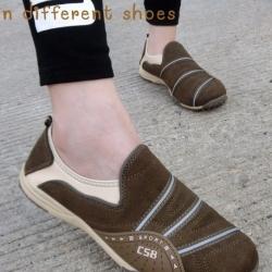 รองเท้าผ้าใบผู้หญิง สไตล์สปอร์ตเกิร์ล (สีน้ำตาล )