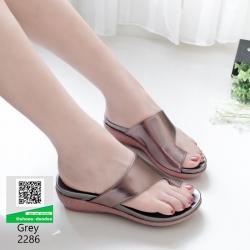 รองเท้าส้นเตารีด สไตล์ลำลอง 2286-เทา [สีเทา]
