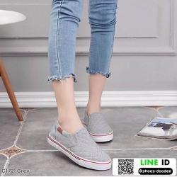 รองเท้าผ้าใบทรงกระชับเท้า C172F2-GRY [สีเทา]