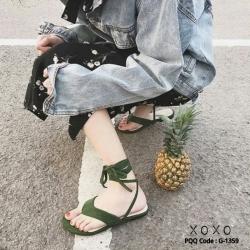 รองเท้าแตะคีบ พันข้อเท้า 1359-GRN [สีเขียว]