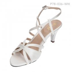 ลดล้างสต๊อก รองเท้าส้นเตี้ย P78-036-WHI [สีขาว]