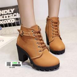 รองเท้าบูทส้นสูงนำเข้า JIH-888-BWN [สีน้ำตาล]