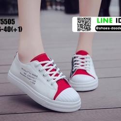 รองเท้าผ้าใบแฟชั่น ST5505-WHI [สีขาว]