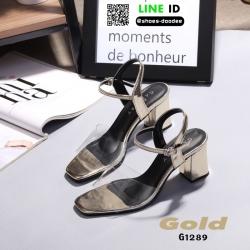 รองเท้าลำลองแบบสวม ทรง maxi G1289-GLD [สีทอง]