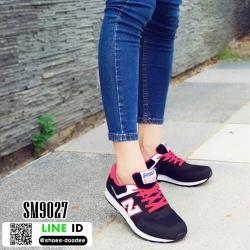 รองเท้าผ้าใบ ทรงสปอร์ต SM9027-RED [สีแดง]