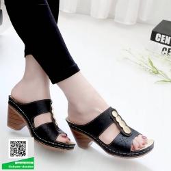 รองเท้าสุขภาพ พื้นนุ่ม 10180-ดำ [สีดำ]