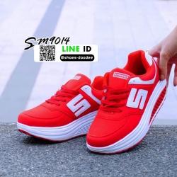รองเท้าผ้าใบเสริมส้น SM9014-RED [สีแดง]
