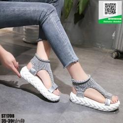 รองเท้าแฟชั่นลำลองสไตน์เกาหลี ST1708-GRA [สีเทา]