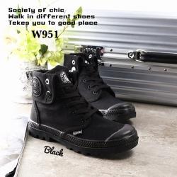 รองเท้าบูท หุ้มข้อ สไตล์PALLADIUM ใส่ได้หลายแบบ (สีดำ )