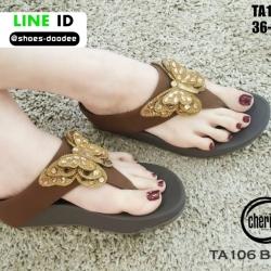 รองเท้าแตะรองเท้าสุขภาพแบบหูคีบ TA106-BRN [สีน้ำตาล]