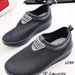 รองเท้าผ้าใบเสริมส้น เพื่อสุขภาพ ผ้าตาข่ายสังเคราะห์ แต่งโลโก้Sport (สีเทา )