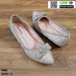 รองเท้าคัชชูส้นเตารีด P9365-KHA [สีกากี]