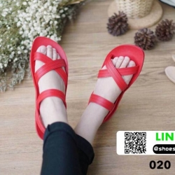 รองเท้าแตะไขว้ 020-RED [สีแดง]