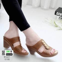 รองเท้าสุขภาพ พื้นนุ่ม 10180-น้ำตาล [สีน้ำตาล ]