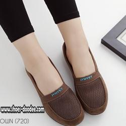 รองเท้าผ้าใบสีน้ำตาล รองเท้าเพื่อสุขภาพ พื้นยางอย่างดี น้ำหนักเบา สวมใส่ง่าย เป็นรุ่นที่แนะนำเลย
