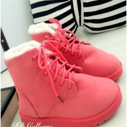 รองเท้าบูท เดินหิมะ ใส่หน้าหนาว (สีชมพู )