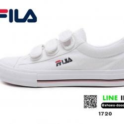 รองเท้าผ้าใบแฟชั่น Style FILA สายรัดเมจิกเทป 1720-WHI [สีขาว]