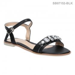 ลดล้างสต๊อก รองเท้าส้นแบน SB07152-BLK [สีดำ]