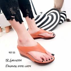 รองเท้าแตะผู้หญิงสีส้ม แบบคีบ สไตล์ลำลอง (สีส้ม )
