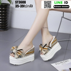 รองเท้าแบบสวมส้นตึก งานนำเข้า100% ST3608-YEL [สีเหลือง]