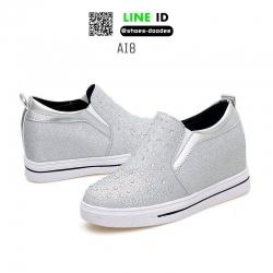 รองเท้าสวมส้นสูงหนัง pu AI8-SIL [สีเงิน]