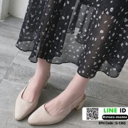 รองเท้าส้นสูงงานทรงหรู รัดหลัง G-1365-APR [สีแอปริคอท]