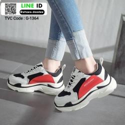 รองเท้าผ้าใบ เสริมส้นหนา G-1364-RED [สีแดง]