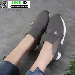 รองเท้าผ้าใบไร้เชือก chanel sneaker 8202-301-GRY [สีเทา]