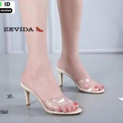 รองเท้าส้นสูงแบบสวม 18-1361-CRM [สีครีม]