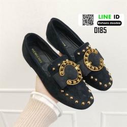 รองเท้าส้นเตี้ยนำเข้าคุณภาพ สไตล์แบรนดัง 0185-ดำ [สีดำ]