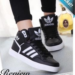รองเท้าผ้าใบผู้หญิงสีดำ หุ้มข้อ สินค้าแฟชั่นเกาหลี สีพาสเทล งานนำเข้า วัสดุทำจากหนังpu เกรดA