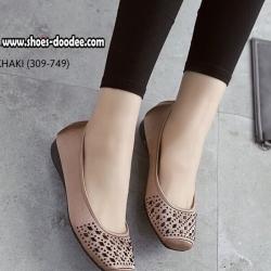รองเท้าคัชชูสีดำ ทำจากผ้าซาติน สูง1.5ซม. ทำให้ใส่แล้วดูขับผิวเท้า ใส่ได้ทุกโอกาส