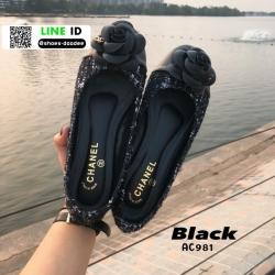 รองเท้าคัชชู สไตล์แบรนด์ CHANEL AC981-BLK [สีดำ]