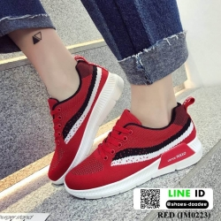 รองเท้าผ้าใบสไตล์เกาหลี IM0223-RED [สีแดง]