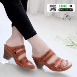 รองเท้าสุขภาพ พื้นนุ่ม 10183-แทน [สีแทน]