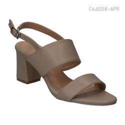 รองเท้าส้นสูงรัดส้น สายคาดสองตอน (สีแอปปริคอท )