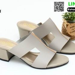 รองเท้าแตะแบบสวม สไตล์แบรนด์ดัง 26-32-GRA [สีเทา]