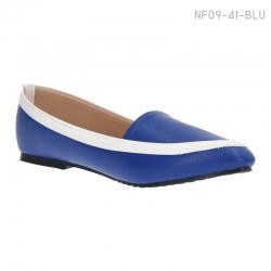 ลดล้างสต๊อก รองเท้าส้นเตี้ย NF09-41-BLU [สีน้ำเงิน]