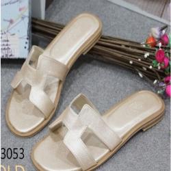 รองเท้าแตะ แบบสวม สไตล์H (สีทอง )
