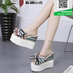 รองเท้าแบบสวมส้นตึก ST3608-BLU [สีน้ำเงิน]