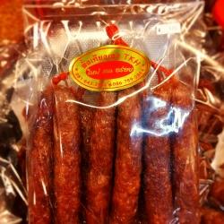 กุนเชียงเชือกแดงสั้น(สูตรกวางตุ้ง) Chinese Sausage 中国香肠