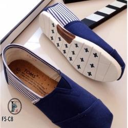 รองเท้าผ้าใบ ผ้าแคนวาสนิ่ม งานคุณภาพ Style Brand Toms (สีน้ำเงิน )